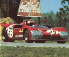 to tape or to tape … that's the question the Alfa Romeo T33/3's of Andrea de Adamich, Henri Pescarolo & Nino Vaccarella (33) and Nanni Galli & Rolf Stommelen (32), 1971 12 Hours of...