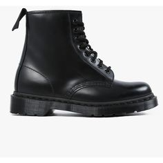 Doc Martens 8- Eye Boot ($125) ❤ liked on Polyvore featuring shoes, boots, botas, genuine leather shoes, dr. martens, dr martens boots, real leather shoes and leather boots