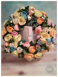 Skupina - Jar a veľkonočné inšpirácie Vence, Floral Wreath, Bude, Wreaths, Table Decorations, Home Decor, Floral Crown, Decoration Home, Door Wreaths