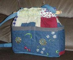 Recycled Denim Crazy Quilts | purse dragon fly crazy quilt denim organizer reversible handbag