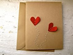 I love you, balloon hearts- card by papersandprints on Etsy https://www.etsy.com/listing/90678981/i-love-you-balloon-hearts-card
