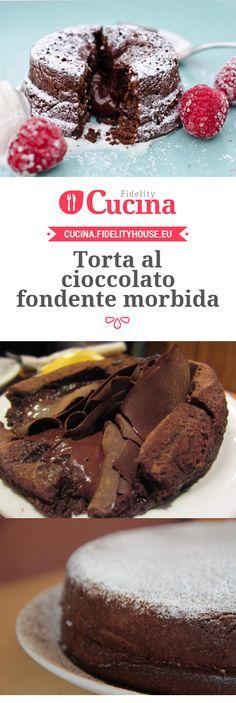 Torta al cioccolato fondente morbida
