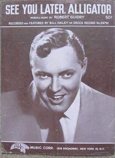 1956 sheet music featuring Bill Haley
