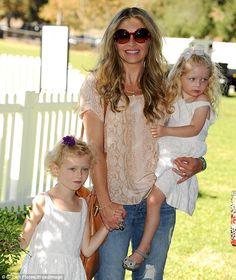 A day with the girls: Rebecca looked excited to be spending some quality time with her dau. Rebecca Gayheart, Disney Junior, Alyssa Milano, Quality Time, Cuddling, Sexy Women, Pride, White Dress, Actresses