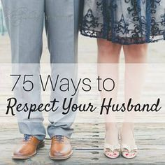 """A husband's greatest need is often respect. He is usually assured of his wife's love because it's a woman's nature to love in a way that he """"gets it."""" Respect is harder for women to convey sometimes. I'm passionate about trying to please, honor, love and respect my husband. My goal is to do this … … Continue reading →"""