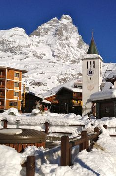 Cervinia, Italy - looking up to the Matterhorn / Monte Cervino