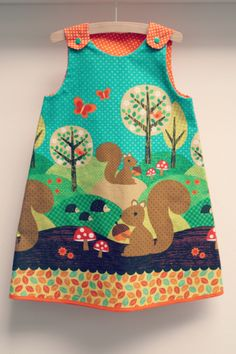 DIY - sew - A-lijn kleedje, stof: nuts for dinner