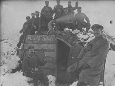 Winter War: German Gunners in a Snowy Dugout 1915