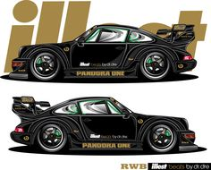 Illest RWB Pandora One Porsche rendered by JDM EGO.  SICK