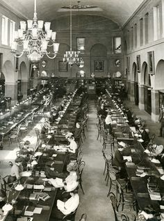 "A century ago, students were studying in Uris Library (then just the ""University Library"")"
