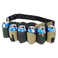 Holds 6 Beverages Toy Cubby Camouflage Adjustable Soda Beer Holster Belt