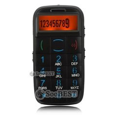 The CBM65 geriatric cell phone is a basic cell phone that is designed for elderly users. This device features large buttons for easy use and a large LCD screen that allows for easy view of letters and text. Beyond the easy to use features, the cell phone has a large SOS button on the back of the phone that allows the user to notify emergency personnel if they are in trouble.