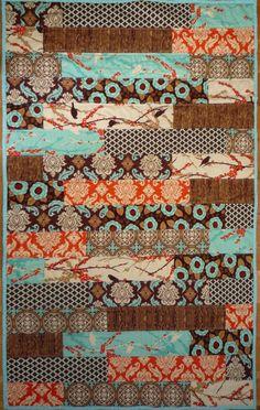 Easy Quilt Pattern PDF Wooden Deck Quilt FQ by BubbleStitch, $9.00