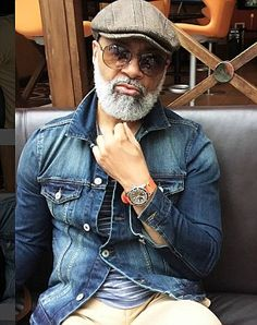 Irvin Randle, a grandad from Houston is stopping ladies, young and old , in their tracks with dapper physique and attire. Randle, a grandd… Black Men Beards, Handsome Black Men, Sharp Dressed Man, Well Dressed Men, Stylish Men, Men Casual, Mode Man, Gorgeous Black Men, Beautiful