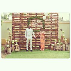 Garden themed Introduction for Planned by Pic by Africa Decor, Traditional Wedding Decor, Event Decor, Event Design, Wedding Decorations, How To Plan, Bridal, Logs, Garden
