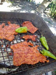 Cecina enchilada y chiles de agua