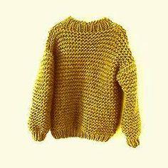 Knit Chunky Sweater Big Sweater Women's Men's by GrahamsBazaar