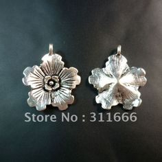 Free shipping 100 pcs/lot 21x18mm Flower zinc alloy pendants charms wholesale-in Pendants from Jewelry on Aliexpress.com