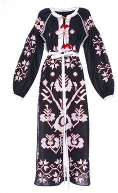 VITA KIN Tree-embroidered long dress