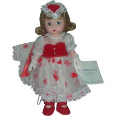 Madame Alexander 8 inch Wendy Doll Valentine's Day Made Exclusively from charlottewebcollectibles on Ruby Lane