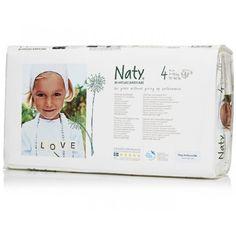 Couches écologiques Naty pack économique taille 4 (paquet de 46)