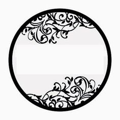Black and White Damasks: Free Printable Toppers and Labels. Printable Labels, Free Printables, Round Labels, Bottle Cap Images, Label Paper, White Damask, Border Design, Pyrography, Paper Cutting
