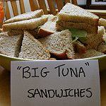 The tuna in these sandwiches didn't get to head for open waters. Office Themed Party, Office Parties, Grad Parties, Holiday Parties, Office Baby Showers, Office Jokes, Birthday Party Themes, Office Birthday Decorations, 15 Birthday