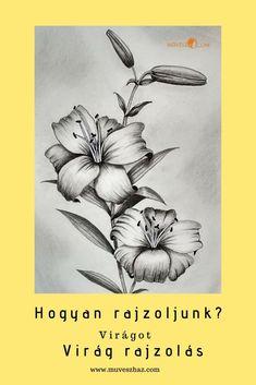 Virág rajzolása lépésről lépésre Flowers, Royal Icing Flowers, Flower, Florals, Floral, Blossoms