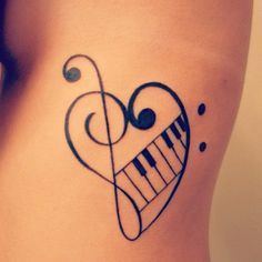 Tattoo Motive: Notenschlüssel If you love music and want to get a tattoo, you might like this tattoo motif with clefs: heart made of an upturned treble clef and bass clef with integrated keyboard. 16 Tattoo, Sick Tattoo, Tattoo Motive, Get A Tattoo, Tattoo Hand, Tattoo Pics, Wrist Tattoo, Tattoo Images, Musik Herz Tattoo