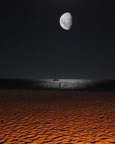 moon on the beach Australia #Perth