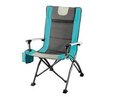 Ozark Trail High Back Chair, Ultra Durable Steel Frame, Adjustable Feet, With Cup Holder, Perfect Seat for Outdoor, Camping and Picnic >>> Learn more by visiting the image link.
