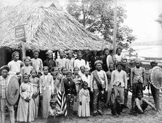Colony of Samal Moros, from the Philippines at the 1904 World's Fair (Louisiana Purchase Exposition)