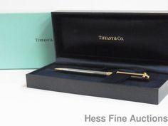 Tiffany Company Ultra Fine Executive T Clip Ball Point Pen w Original Boxes