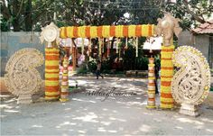 Enticing Styles For Entrance Decorations: Wedding In Bangalore