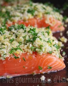 Roasted Salmon with Gremolata Bread Crumbs Roasted Salmon, Grilled Salmon, Baked Salmon Recipes, Seafood Recipes, Easy Cooking, Cooking Recipes, Gremolata, Confort Food, Fish And Seafood