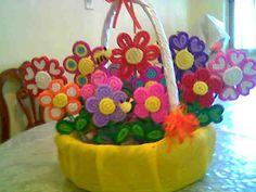 Manualidades flores de crepe - Imagui