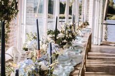 Still loving these in s orangery this summer Wedding Goals, Wedding Bride, Wedding Flowers, Wedding Ideas, Moss Centerpieces, Centre Pieces, Hydrangea, Real Weddings, Table Decorations