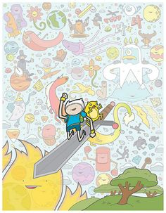Adventure Time With Finn and jake Fan art