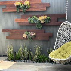 vertical garden Succulent wall garden ideas - Little Piece Of Me Vertical Garden Wall, Garden Wall Art, Garden Walls, Garden Wall Designs, Garden In House, Back Garden Landscape Design, Garden Mural, Landscape Designs, Fence Design