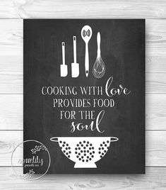 Kitchen Print, Chalkboard Art, Food Quote, Foodie Gift, Home Decor, Quote Print, Chalkboard Wall Art, Kitchen Print, Printable Wall Art