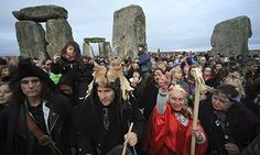 Druids, pagans and revellers celebrate last year's winter solstice at Stonehenge. Photograph: Matt Cardy/Getty Images