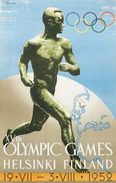 Hmari Sysimetsa Original Poster: Helsinki 1952 Olympics
