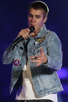 Justin Bieber wearing  Amiri S/S 17 Distressed Patchwork Denim Jacket