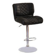 Deri döşemeli hidrolik sistem kromaj ayaklı bar sandalyesi Siyah beyaz ve kırmızı döşeme renk seçenekleri mevcutur. deri döşeme bar sandalye fiyatları için.