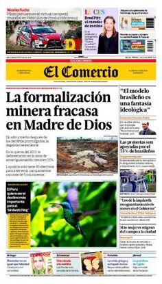 DOMINGO 23 de JUNIO de 2013  (PORTADA DE EL COMERCIO)