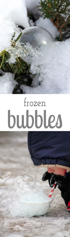 Bundle up and head outside for some extreme winter science with the kids. Make and observe fascinating frozen bubbles!  via @https://www.pinterest.com/fireflymudpie/