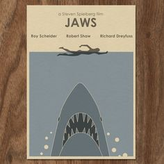 JAWS Limited Edition Movie Print  Shark Week by MonsterGallery, $8.00