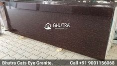 Cats Eye Graniteis beautiful stone known for its red-browngranite which has the dark brown base with large dark red grains. It is used in many industrial and commercial purposes to give a unique and decorative look to your home and workplace. Cats Eye Red Granite has smooth finishing with soft surface. Bhutra Marble & Granites Pvt. Ltd.is one of the best supplier and manufacture of Cats Eye Red Granite in India. We are engaged to serve top quality marble to all our valuable clients at a… Brown Granite, Granite Slab, Granite Stone, Dark Red, Dark Brown, Granite Suppliers, Black Indians, Italian Marble, Workplace