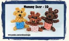 Rainbow Loom 3D Mummy/Mommy Bear Action Figure/Charm - Gomitas