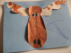 Bildresultat för moose crafts for kids Toddler Crafts, Diy Crafts For Kids, Arts And Crafts, Moose Crafts, Classroom Crafts, Classroom Ideas, Woodland Animals, Forest Animals, Woodland Forest